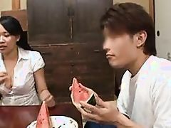 japanese mature does her housework and more