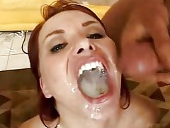 Incredible cum swallow