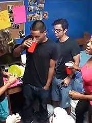 Hot dorm room sex action caught on tape