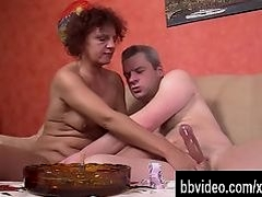 Horny mature german slag take cock