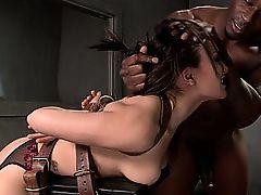Inviting mistress mistreated with huge black boner