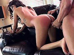 Brittany Bliss fucked hard doggy style on couch