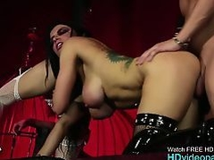 Brunette Lillie Makes A Couple Fuck