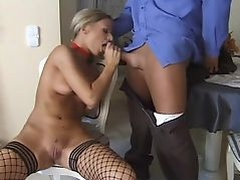 Christel Starr gorgeous blonde in fishnet stockings