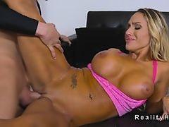 Massive tits Milf bangs gym pal