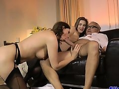 Euro amateur cocksucking oldman in brit trio