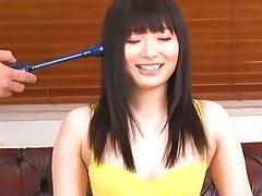 brunette nippon cutie pleasured