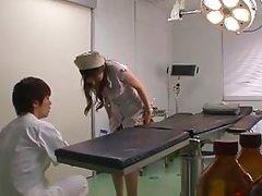japanese nurse needs to piss