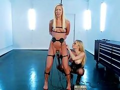 watch two blonde lesbians having a kinky time together