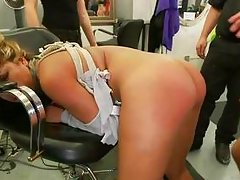 laurie vegas gets banged roughly in a lab