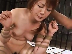 japanese wench benefits from cummed on in prison