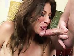 big boobs milf knows how to swallow cock