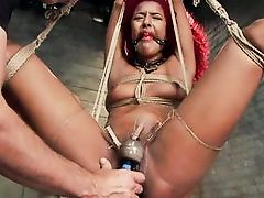 slave daisy gets a vibrator on her pussy