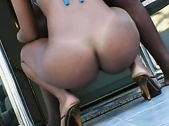brazilian whore sucks a huge cock then rides it